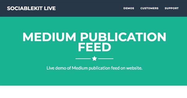 Medium Publication Feed
