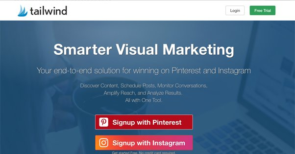 Tailwind Pinterest Homepage