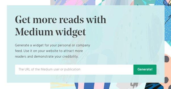 Unofficial Medium Widget