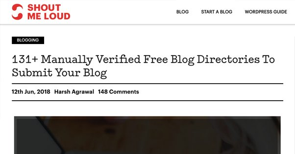 Blog Directories List
