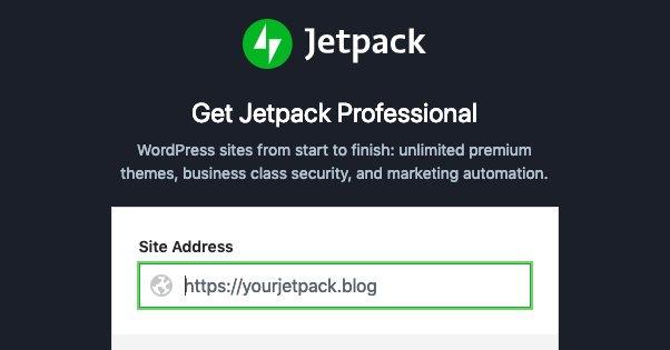 Jetpack Pro Signup