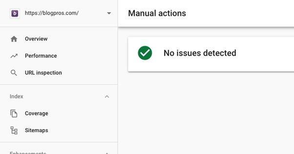 Manual Actions Tab