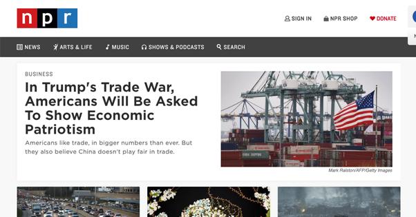 NPR Homepage