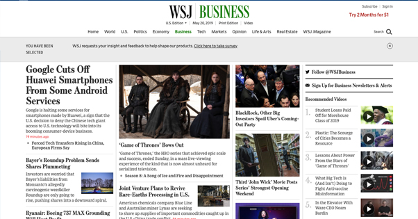 WSJ Homepage