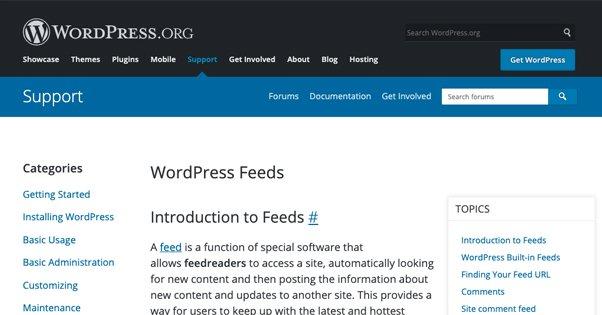 Various Feeds in CMS Like WordPress