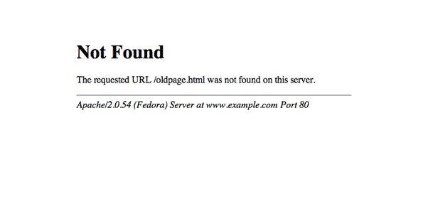 Example Apache 404