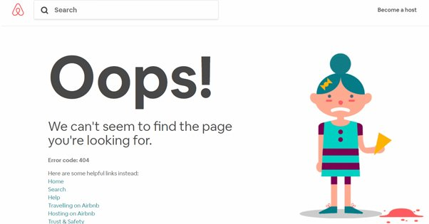 Example of a Custom 404 Page