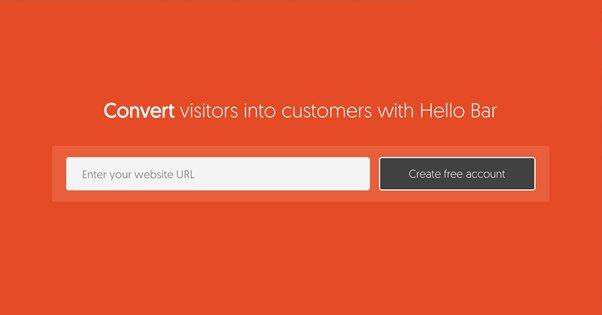 Hello Bar Homepage