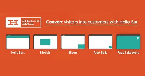 Converting Visitors With Hellobar